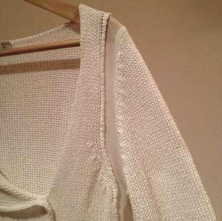Zara knit sweater with mesh detail