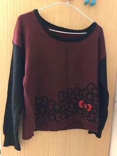 🚚 凱蒂酒紅針織毛衣