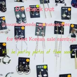 Korean Earrings on Sale