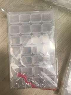 Clear Container 28 Individual Nail Art Accessories