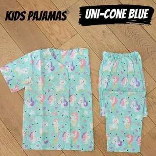 Unicone blue kids pajamas