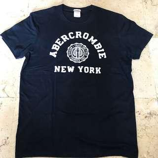 Kaos T-Shirt Abercrombie & Fitch Hitam Original Branded