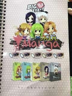 Softlens big eyes Manga