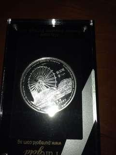 Sg flyer 1oz  silver coin
