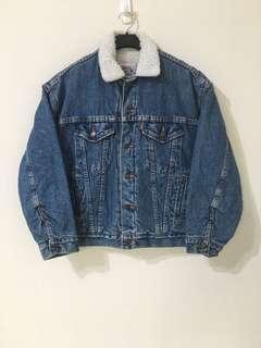 🚚 古著 Vintage 90's Levi's Levis 舖棉 牛仔外套 單寧刷毛夾克 橘標 美國製
