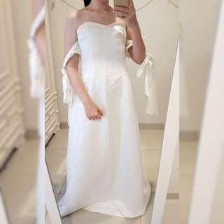 Couture Designer White Long Dress