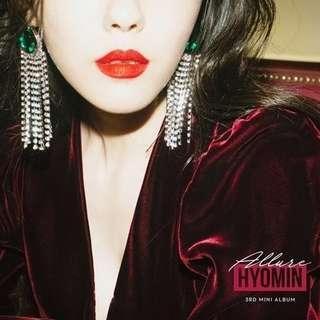 🚚 T-ara : HYOMIN - Mini Album Vol.3 [Allure]