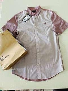 🚚 BNWT 💯 Authentic Fred Perry Yarn Dyed Mix Stripe Shirt S