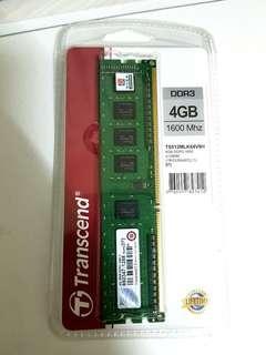 🚚 創見 DDR3 1600Mhz 4g 記憶體