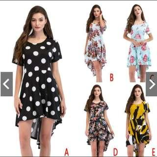 Irregular Knee-Length Dress