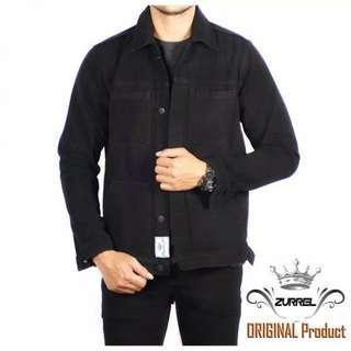 Jaket jeans pocket black