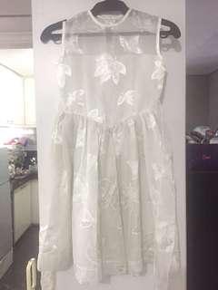 Kid's White Lace Dress