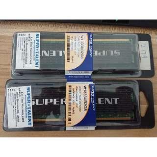 Super Talent DDR3-1333 2GB RAM CL8 有盒 終身保