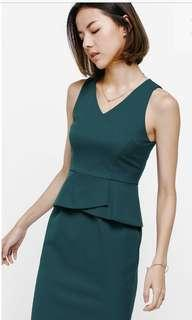 Love Bonito Hilvia Peplum Midi Dress