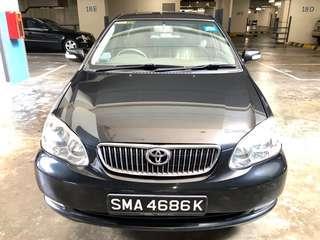 Toyota Altis 1.6a - $295/w - car rental