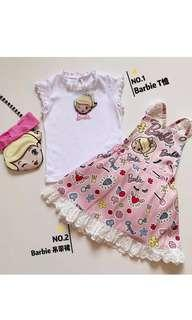 🚚 PO Princess Kids Set Wear 3 different set available as shown on pic .. one set is $28 .. Sling bag available add $8.90 .. gd quality size from 80-130cm