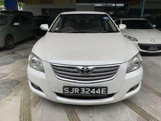 White Toyota Camry for Rent