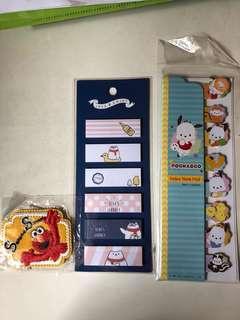 Pochacco Note pad memo 芝麻街Elmo熨章