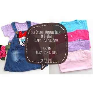 Set Minnie Overall Jeans