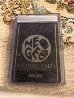 Neo Geo SNK memory card