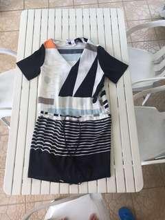 🚚 DVF Koemi Drop Waist Drawstring Shirt Dress