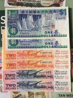 Singapore 🇸🇬 ships 🚢 $1 & $2 ~ 3 consecutive pairs !