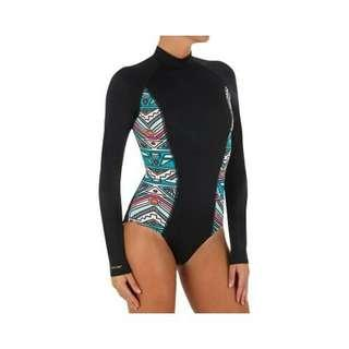 Decathlon Tribord One Piece Rashguard Swimsuit
