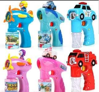 SALE! Robocar Poli Kids Bubble Gun with Light