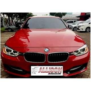 BMW 2.0 328i SUNROOF 2013 Merah, KM 46 Rb, ISTIMEWA, No Pol Genap