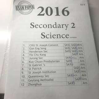 Secondary 2 science practice papers