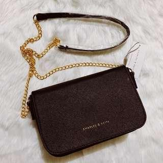 Charles & Keith Chain Sling Bag