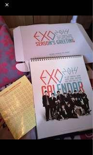 EXO 2014 Season's Greeting Calendar + Box #MFEB20