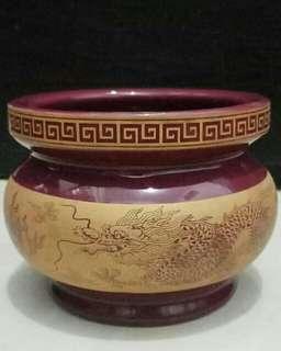 Wadah / tempat keramik china motif naga