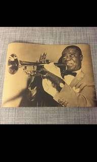 🚚 Sale 🌟 Louis Armstrong poster kraft paper 42x30cm jazz