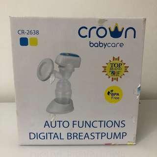 CROWN Digital Breast Pump Pompa ASI dengan Fungsi AUTO CR-2638