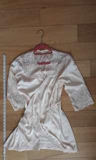 Bridal silky wrap robe