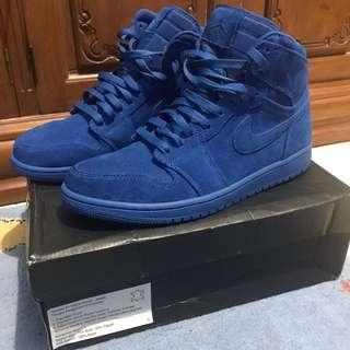 Air Jordan 1 AJ Retro High Blue Suede