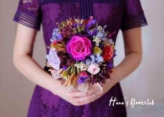 Preserved Flower Hand Bouquet  (Wedding/ ROM/ Solemnisation/ Proposal/ Anniversay/ Graduation/ Birthday)