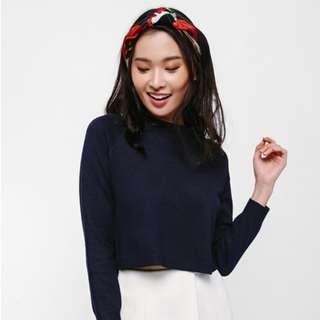 Elspeth Crop Knit Sweater love bonito