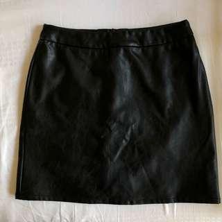 🚚 Pomelo A-line Leather Skirt