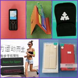 🆕Smartphone, stand, jellycase, arm pouch, waist  pouch