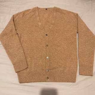 🚚 muji 喀什米爾 羊毛開襟衫