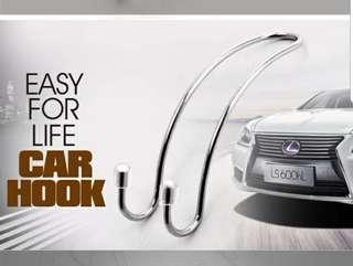 4 Silver Car Handle Hook