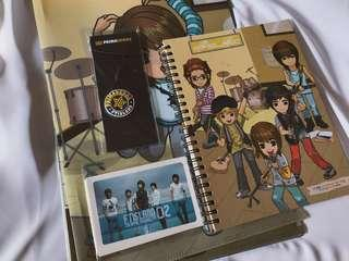 RARE FT Island Official Merchandise (Files, Key chain, Notebook, Cards)