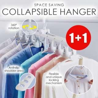 Special Promotion: 1 + 1 Space Saving Collapsible Hangers / Cascading Foldable Hangers x 2pcs