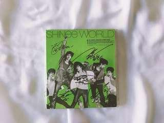 RARE Autographed/Signed SHINee World Album (Signed by all 5 members)