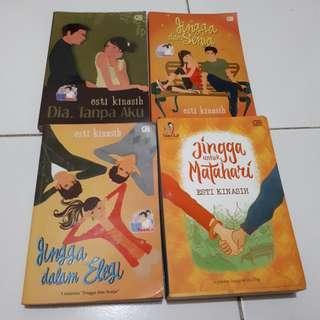 Novel Series Jingga & Senja dan Dia Tanpa Aku Karangan Esti Kinasih