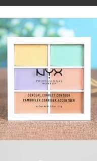 NYX Correcting Palette 六色遮暇盤 Chanel Dior celine