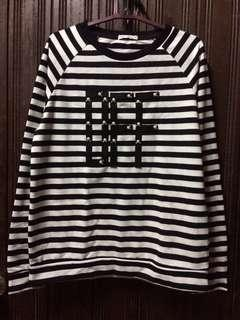Free postage// Stripe Sweatshirt Brands Outlet