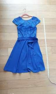 Billie and Blossom blue lace dress